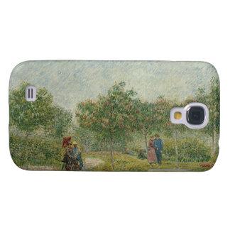 Garden in Montmartre with lovers Samsung Galaxy S4 Case