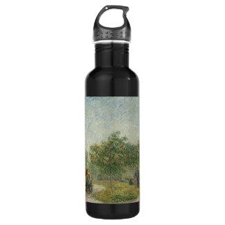 Garden in Montmartre with lovers Stainless Steel Water Bottle