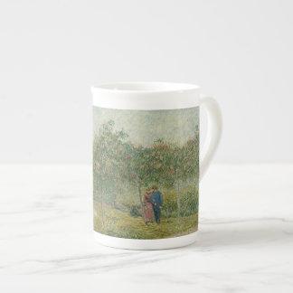 Garden in Montmartre with lovers Tea Cup