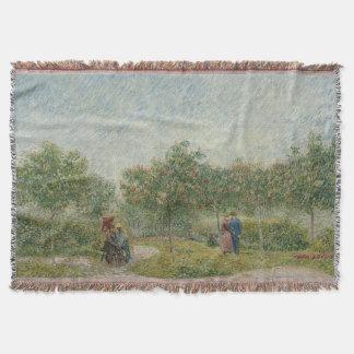 Garden in Montmartre with Lovers Van Gogh Throw Blanket