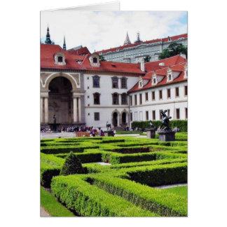 Garden In Prague Card
