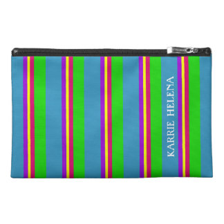 Garden in Spring Palette Stripe Personalized Travel Accessory Bag