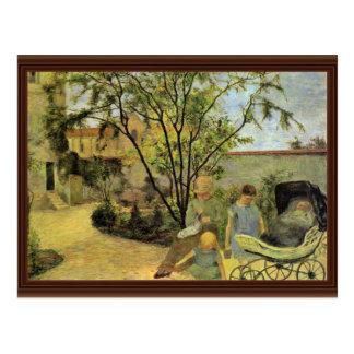 Garden In The Rue Carcel By Gauguin Paul Postcard