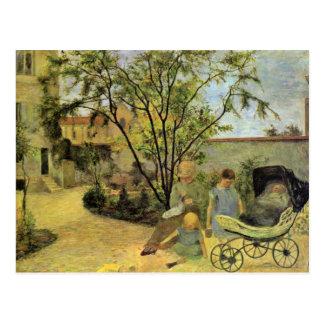 Garden In The Rue Carcel By Gauguin Paul Post Card