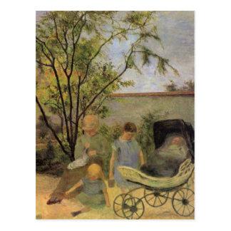 Garden in the Rue Carcel - Paul Gauguin Post Card