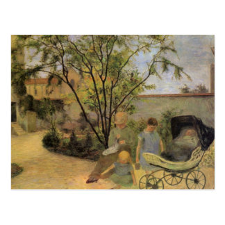 Garden in the Rue Carcel - Paul Gauguin Postcard