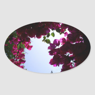 Garden in the Sky Oval Sticker