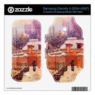Garden in the Snow by Alfred Sisley Samsung Eternity II Decal