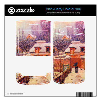 Garden in the Snow by Alfred Sisley BlackBerry Bold Decals