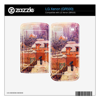 Garden in the Snow by Alfred Sisley Skins For LG Xenon