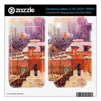 Garden in the Snow by Alfred Sisley Samsung Galaxy S 4G Skin