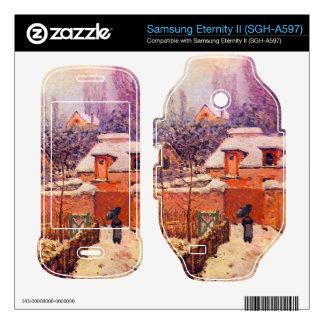 Garden in the Snow by Alfred Sisley Samsung Eternity II Skin