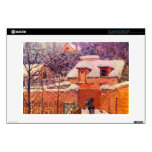 Garden in the Snow by Alfred Sisley Skins For Laptops