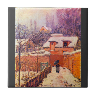 Garden in the Snow by Alfred Sisley Tiles