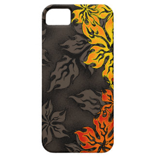 Garden Inferno Tropical Flame Floral iPhone 5 Case