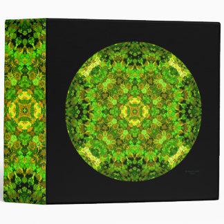 """Garden Inlay"" ring-clip album 3 Ring Binder"
