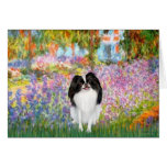 Garden - Japanese Chin 3 Greeting Cards