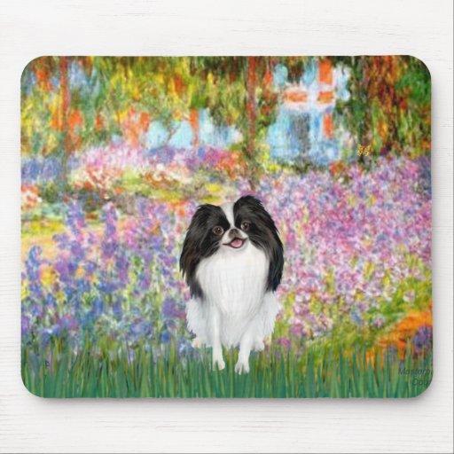 Garden - Japanese Chin 3 Mouse Pads