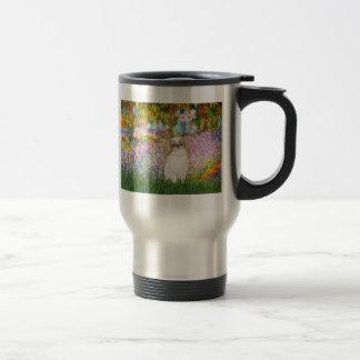 Garden - Japanese Chin (L1) 15 Oz Stainless Steel Travel Mug