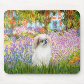 Garden - Japanese Chin (L2) Mouse Pad