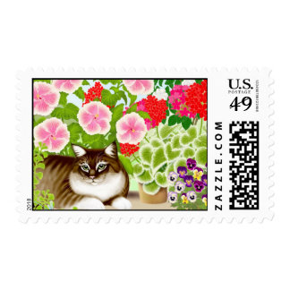 Garden Jungle Cat Postage