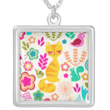 Garden Kitty Custom Necklace