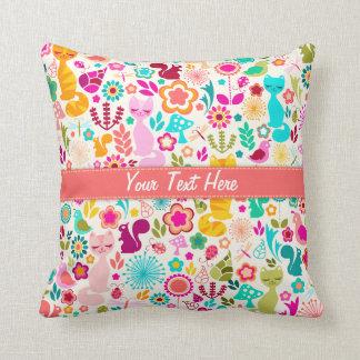 Garden Kitty Pillows