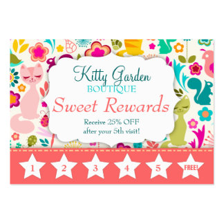 Garden Kitty Rewards Promo Large Business Cards (Pack Of 100)