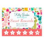 Garden Kitty Rewards Promo Business Cards