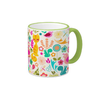 Garden Kitty Ringer Coffee Mug