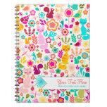 Garden Kitty Spiral Note Books
