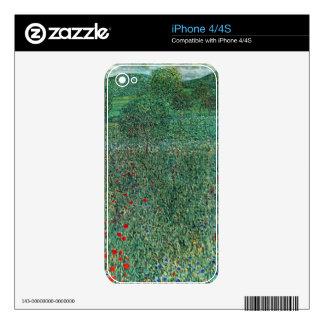 Garden landscape by Gustav Klimt Skins For iPhone 4S