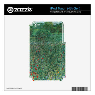 Garden landscape by Gustav Klimt Skin For iPod Touch 4G