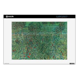 "Garden landscape by Gustav Klimt 13"" Laptop Skin"