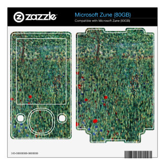 Garden landscape by Gustav Klimt Skin For The Zune