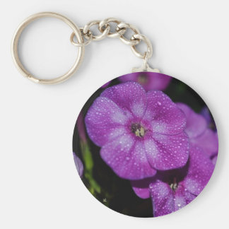 Garden Laura Phlox Flowers-007 Basic Round Button Keychain
