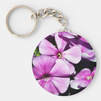 Garden Laura Phlox Flowers Basic Round Button Keychain