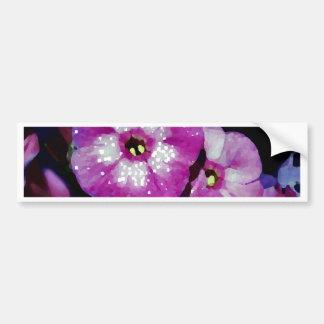 Garden Laura Phlox Flowers-PhotoMagic Bumper Sticker