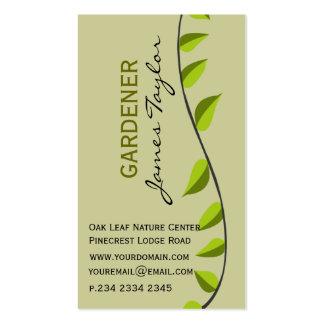 Garden Leaf Gardening Green Landscape Business Card