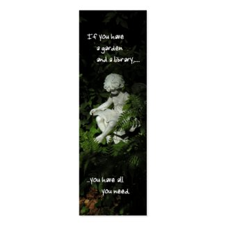 Garden Library Bookmark Double-Sided Mini Business Cards (Pack Of 20)