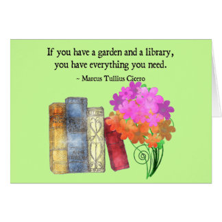 GARDEN & LIBRARY GREETING CARDS