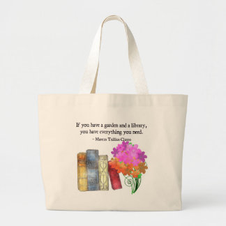 GARDEN & LIBRARY LARGE TOTE BAG