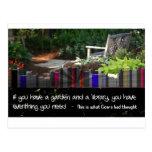Garden Library Postcard