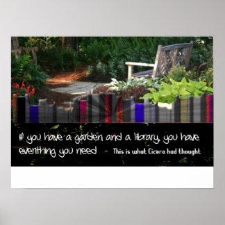 Garden Library Poster