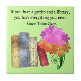 GARDEN & LIBRARY Tile