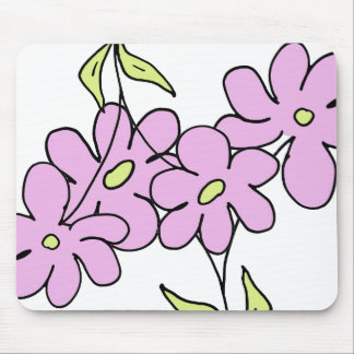 Garden light pink mouse pad