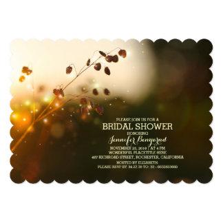 """garden lights rustic bridal shower invitation 5"""" x 7"""" invitation card"""