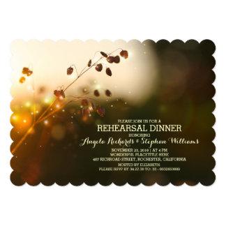 """garden lights rustic rehearsal dinner invitation 5"""" x 7"""" invitation card"""