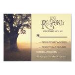 Garden lights tree rustic wedding RSVP Invite
