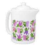 Garden Lilac Flowers Teapots